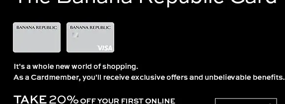 Banana Republic credit card manage