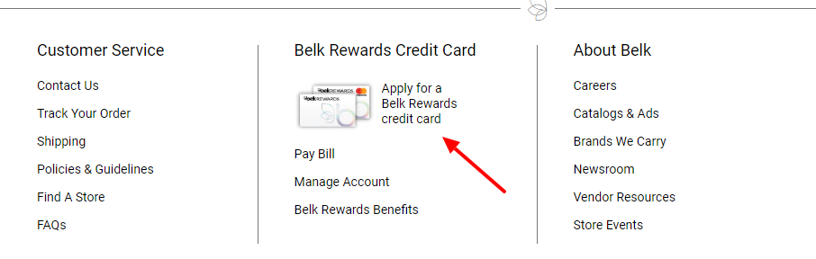 Belk Credit Card Rewards apply