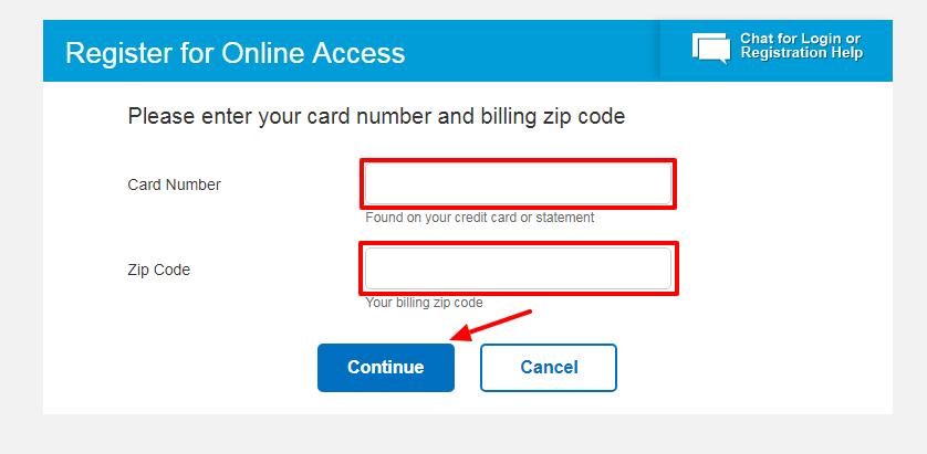 Chevron card Registration