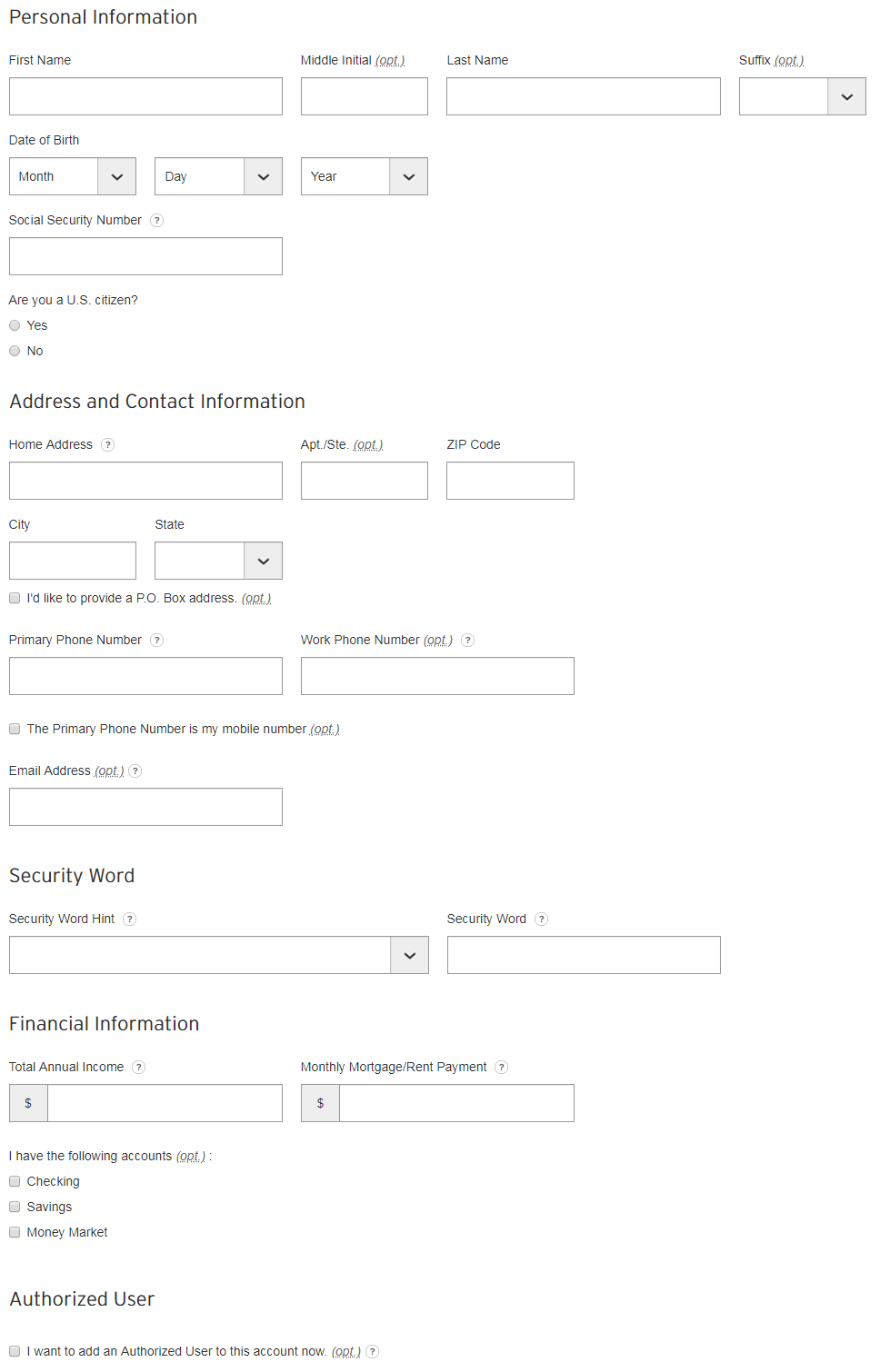 Citibank credit card Online apply