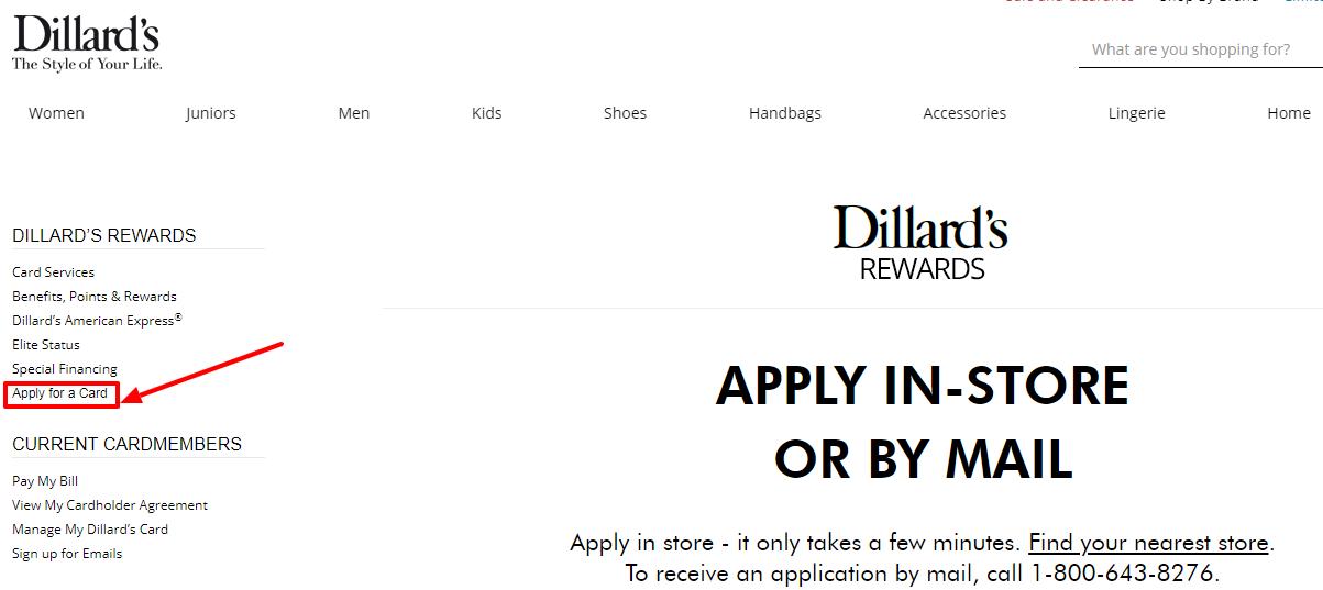 Dillard s Card Apply