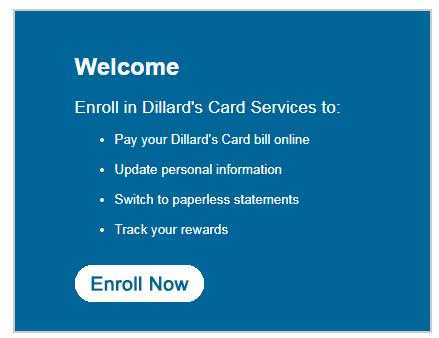 Dillard s card enroll
