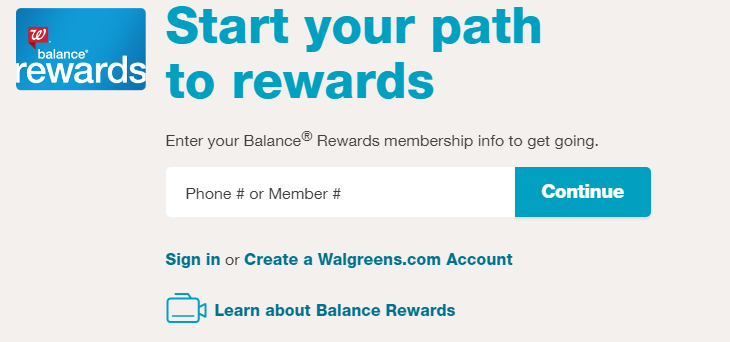 Earn Points And Get Balance Rewards From Walgreens