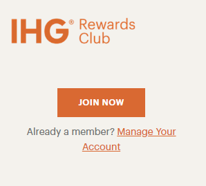 IHG® Rewards Club Loyalty Program join