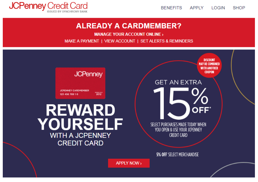 JCPenney Credit Card online apply
