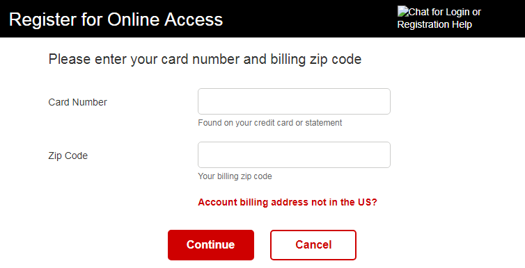 JCPenney credit card Registration