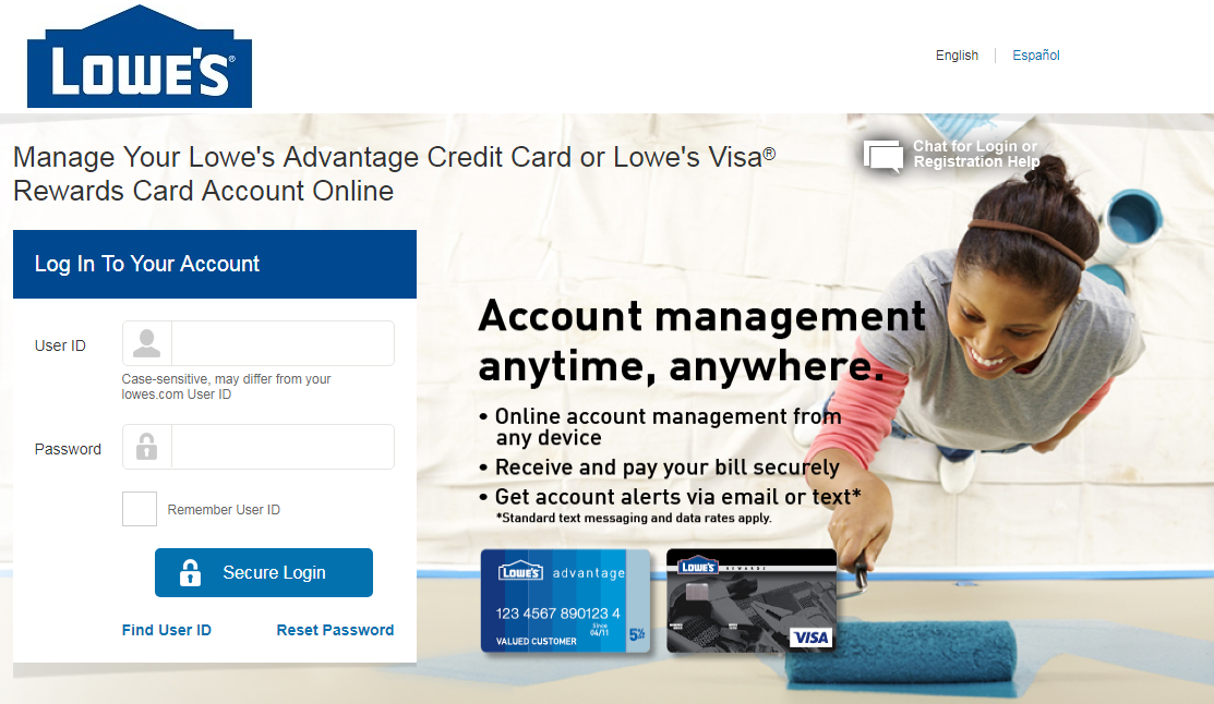 manage Your Lowe s Credit Card Account