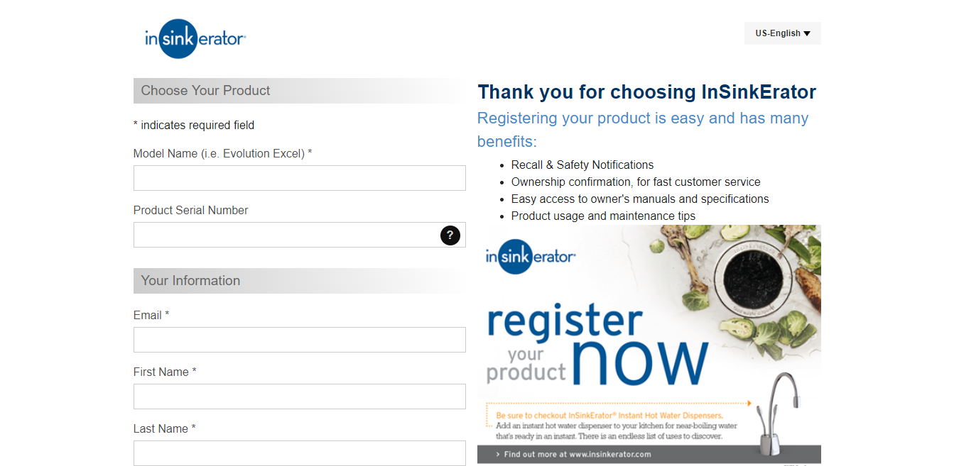 Register-Your-Product-InSinkErator-Emerson