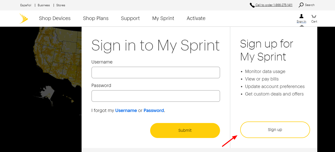 Sprint Network Sign Up