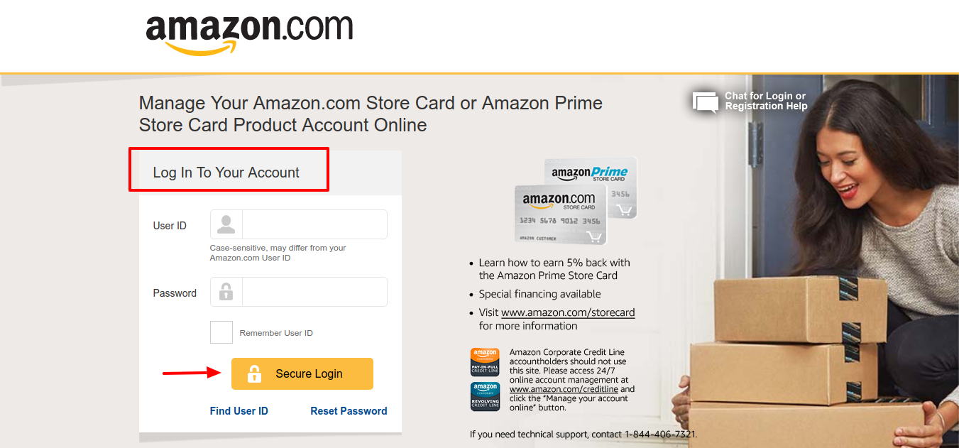 Amazon Credit Card Account Login
