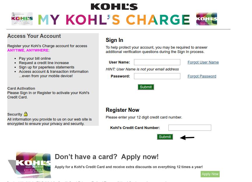 Khols Register'