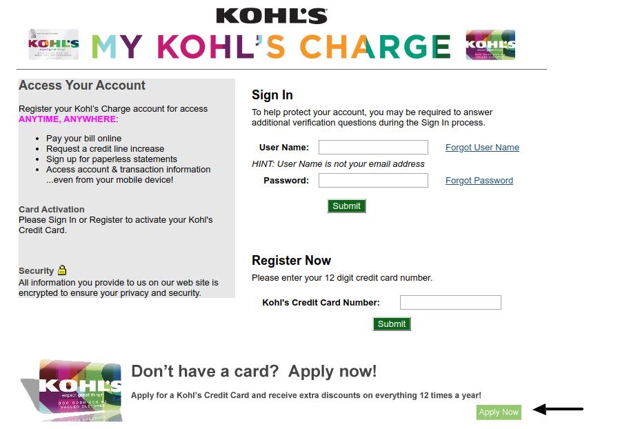 Kohals Card Apply