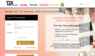 TJX Rewards credit card Logo