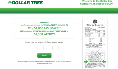 Dollar Tree Stores Survey