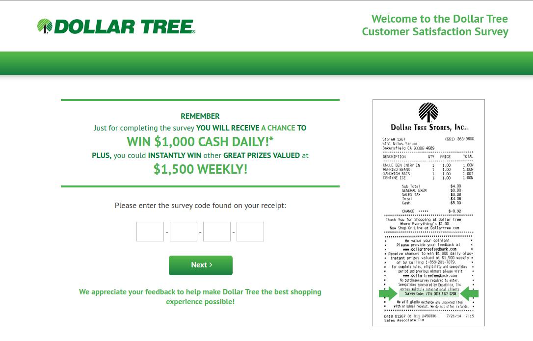 Dollar Tree Stores Survey
