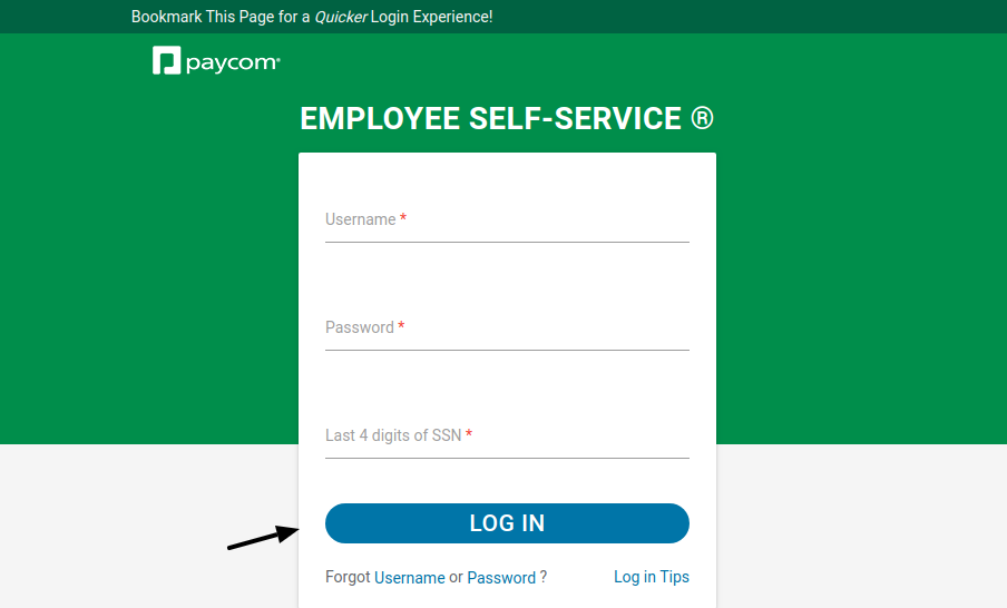 Employee Self-Service Login