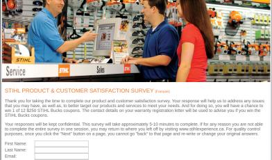 STIHL Product Customer Satisfaction Survey