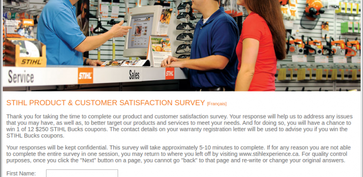 STIHL Product Customer Satisfaction Survey