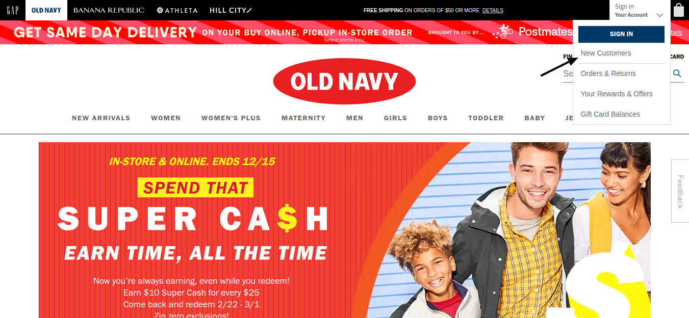 Old Navy New Customer