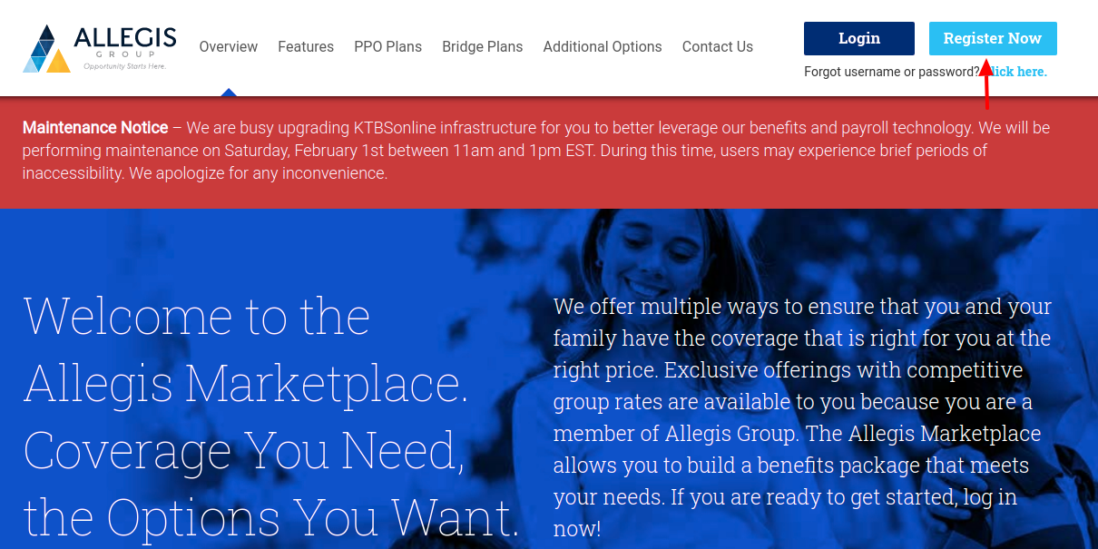 Allegis Marketplace Register