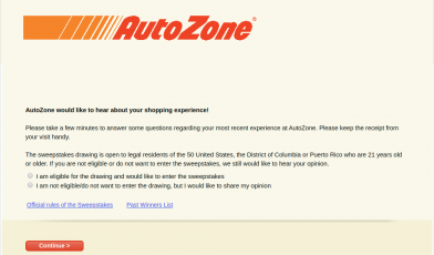 AutoZone Customer Survey