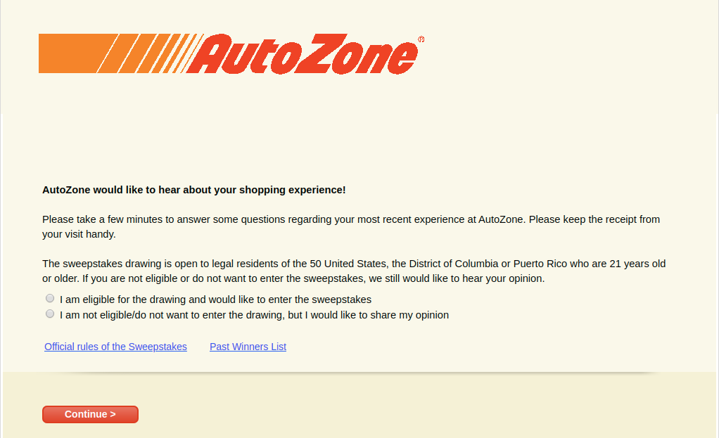 AutoZone Customer Survey