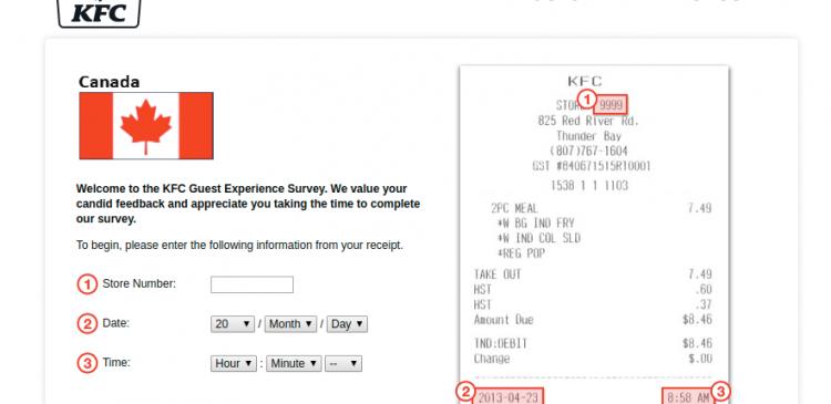 KFC Canada Experience Survey