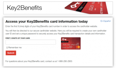 Key2Benefits Card Activate