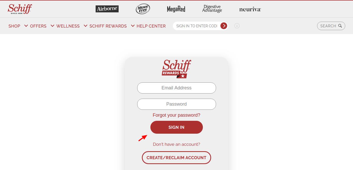 Schiff rewards Login