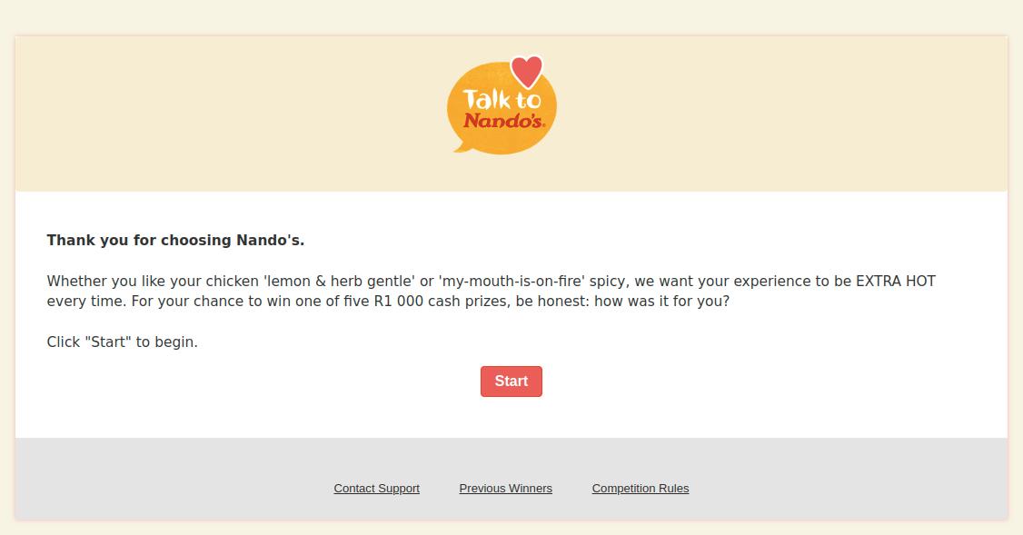 TalkToNandos Survey