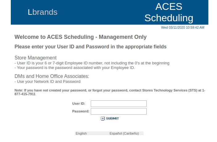 Aces Limitedbrands Com Login Guide For Aces Etm Account Iviv Co
