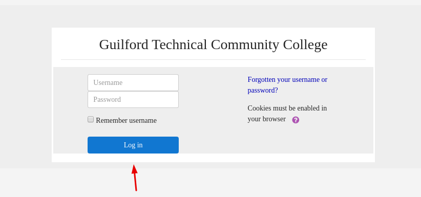 Guilford Technical Community College Login