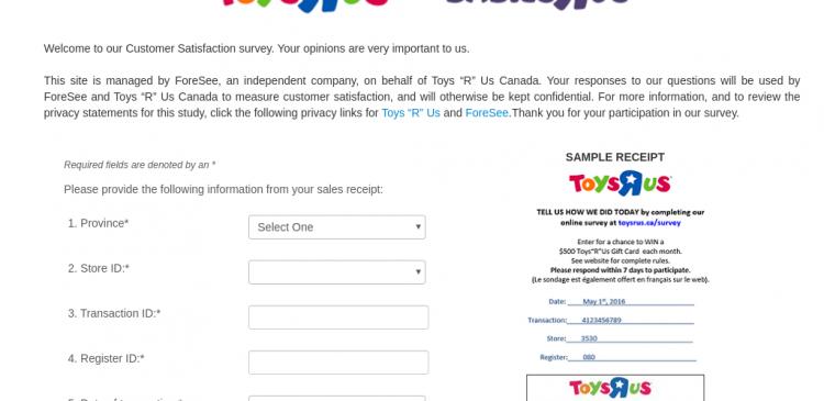 ToysRUS Survey