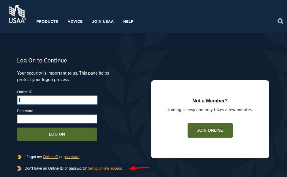 USAA Set Up Online Access