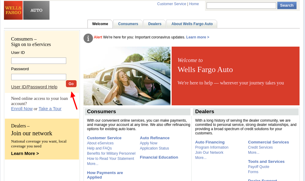 Wells Fargo Auto Login