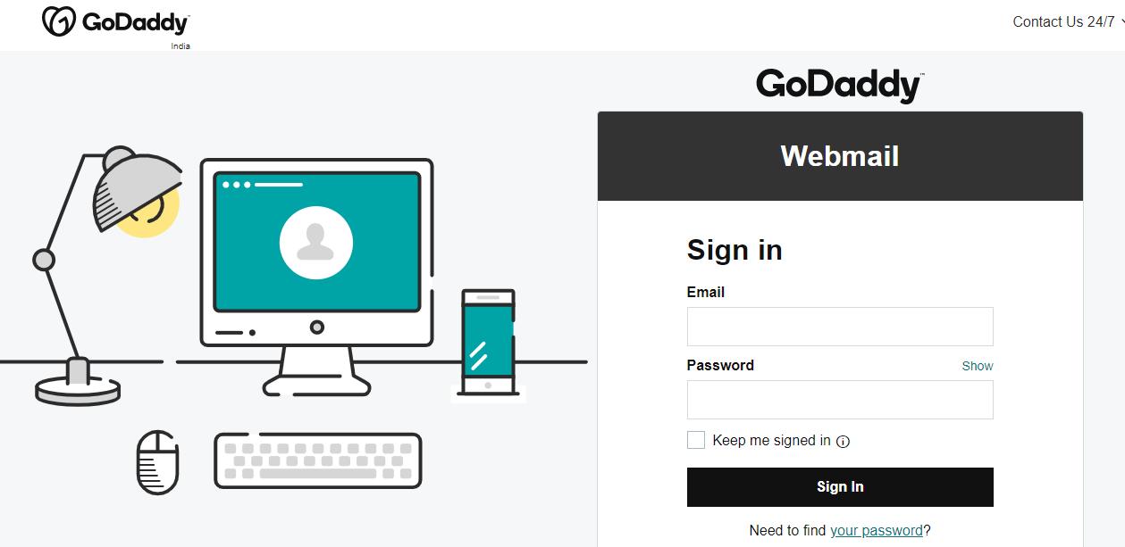 GoDaddy Webmail Account login