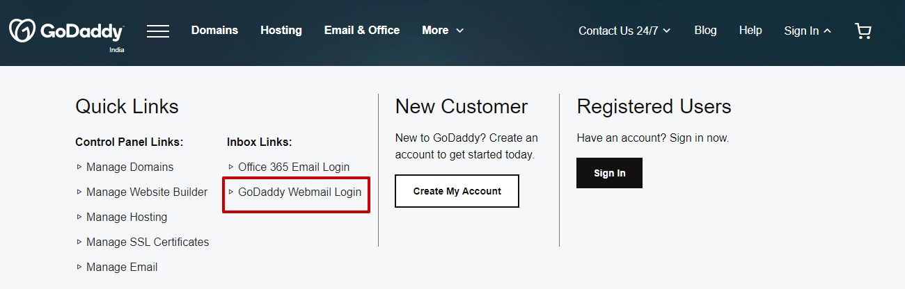 Login to GoDaddy Webmail Account