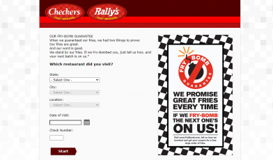 Checkers and Rally's Fry Bomb Survey