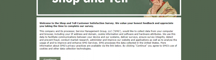 How to Take Shop-AND-Tell Survey