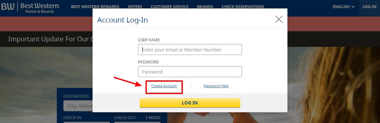 Process of login into Best Western Employee Portal