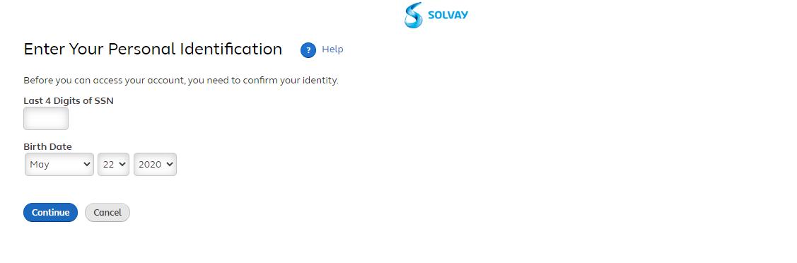 Solvay Rewards account