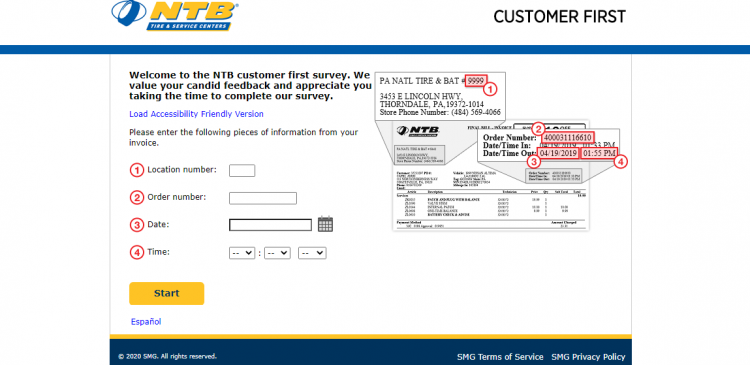 Take NTB Customer First Survey