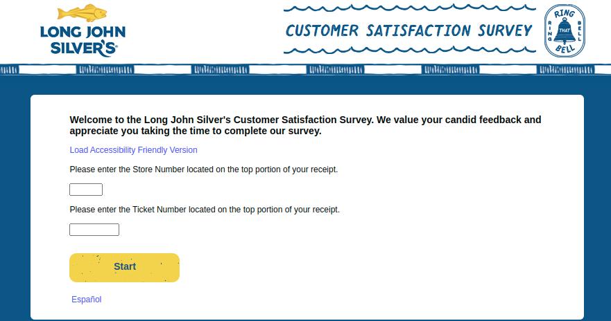 Long John Silvers Customer Survey