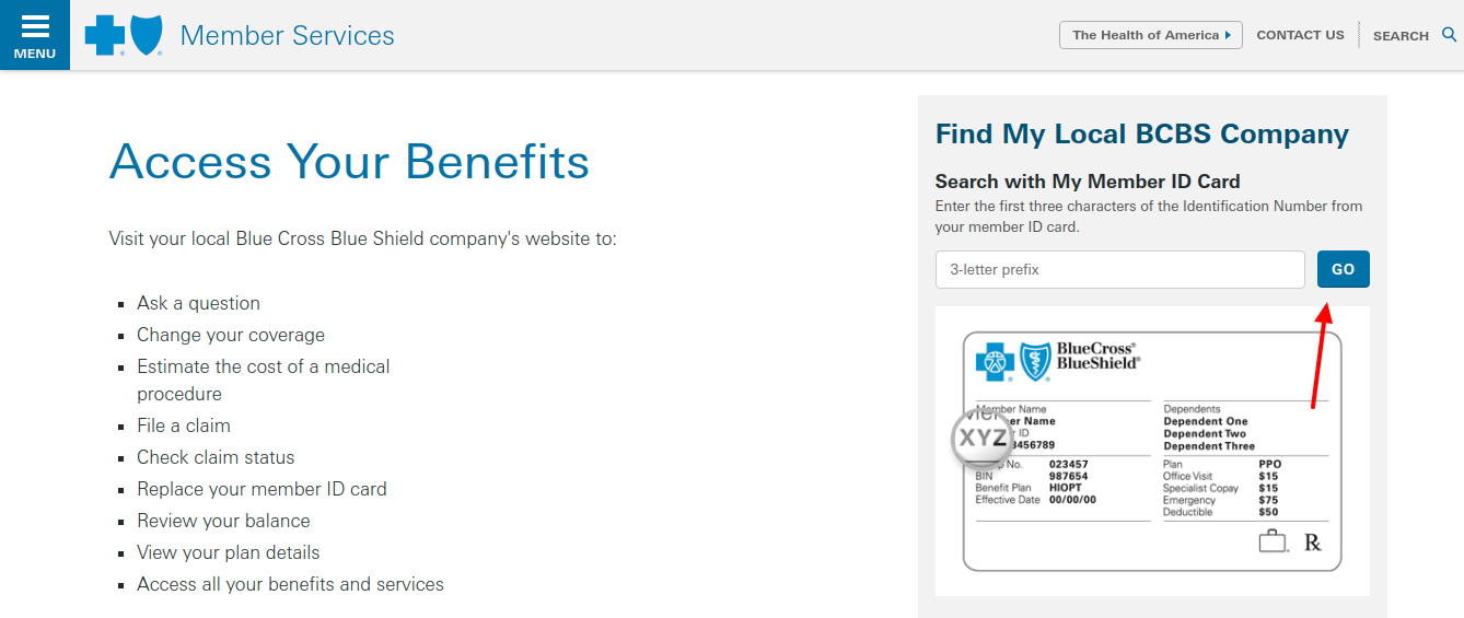 Member Access Blue Cross Blue Shield