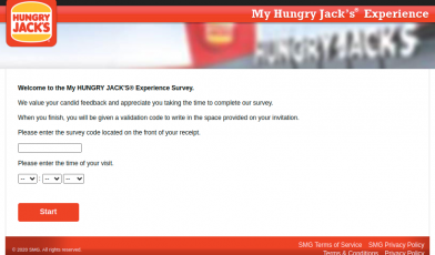 MyHUNGRY JACK Survey Logo