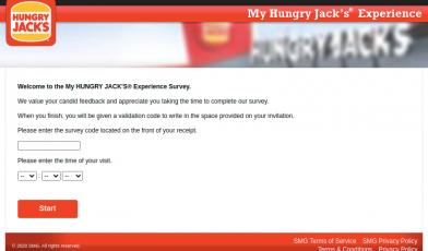 MyHUNGRY JACK Survey Logo