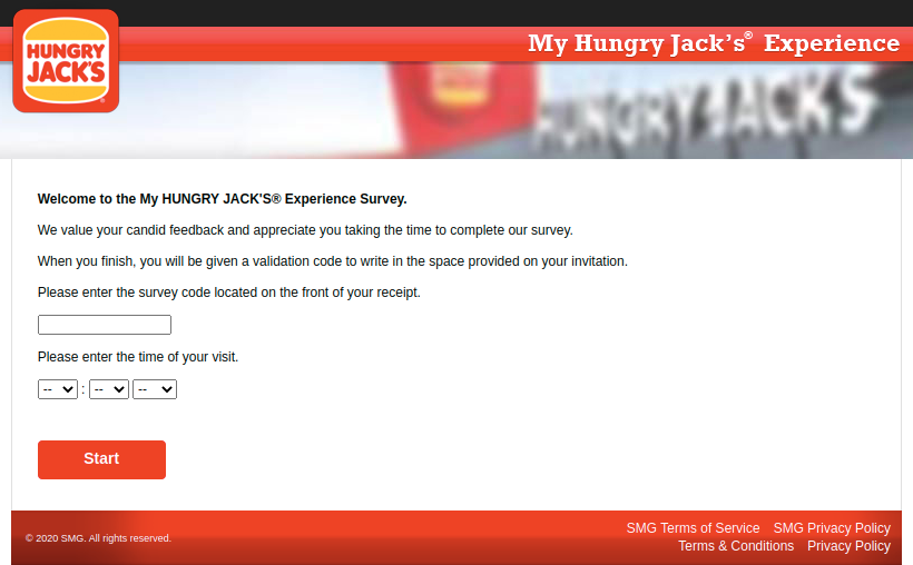 MyHUNGRY JACK Survey