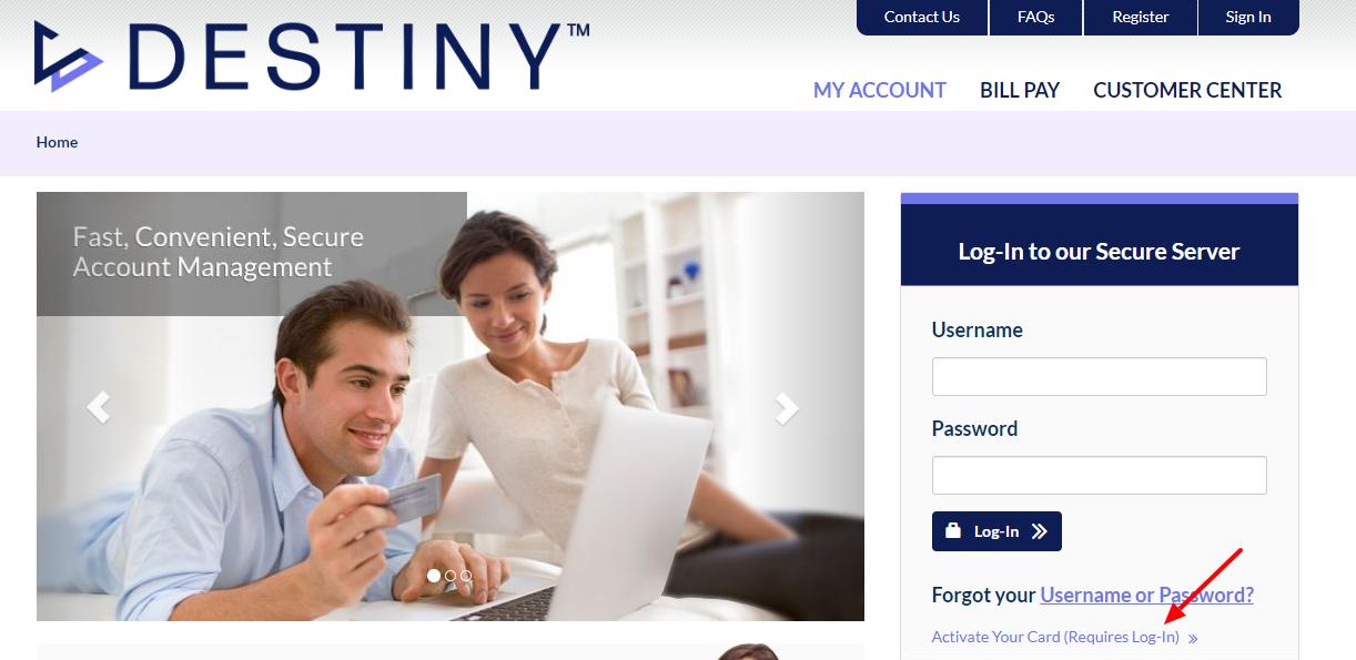 Destiny Mastercard Activate