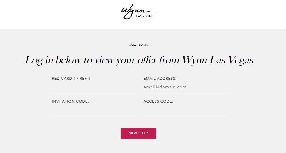 WynnEncore Invitations View Offer