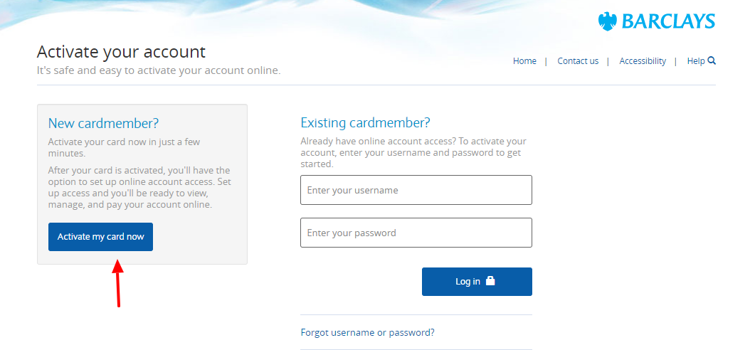 Activate Your Barclays Card